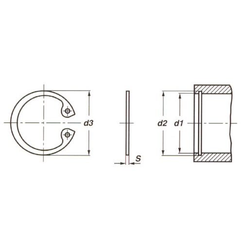 Seeger ring internal circlip din 472 ranco catalogue for Circlips interieur din 472